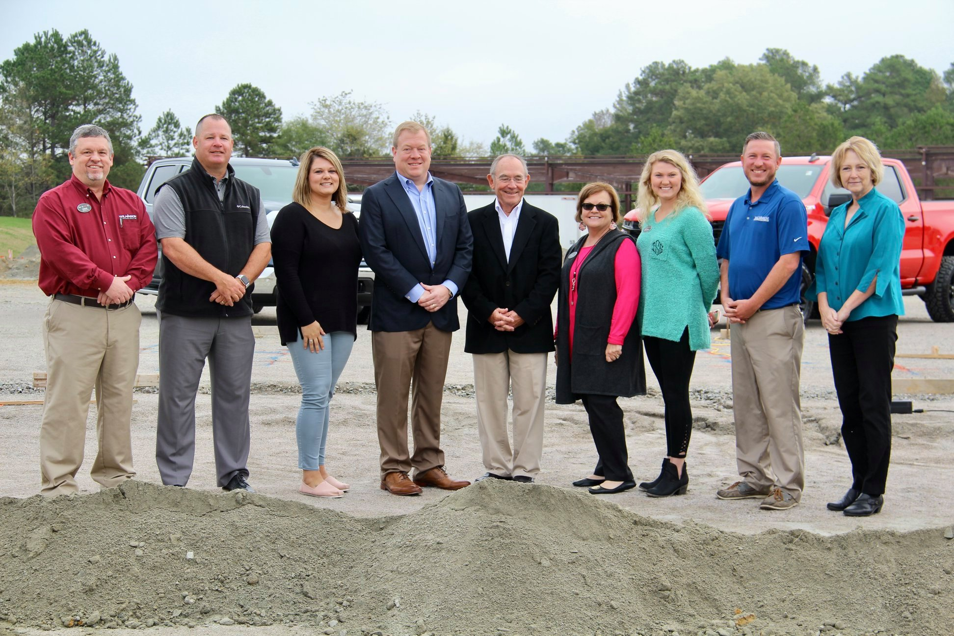 Owner Wil Wilkinson and his team at the groundbreaking for their new location.